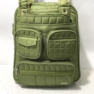 Lug Quilted Diaper Bag Green Tote  Pockets Pad